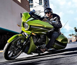 Polaris introduced the new Victory Magnum bagger at their 60th Anniversary Meeting in 2014.
